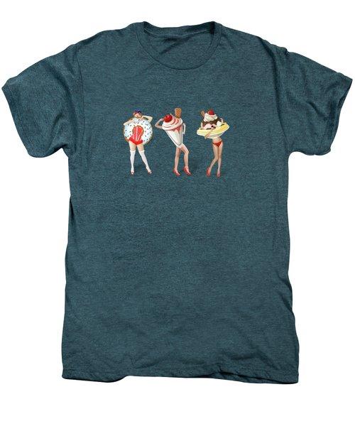 Ice Cream Woman 4 Men's Premium T-Shirt by Mark Ashkenazi