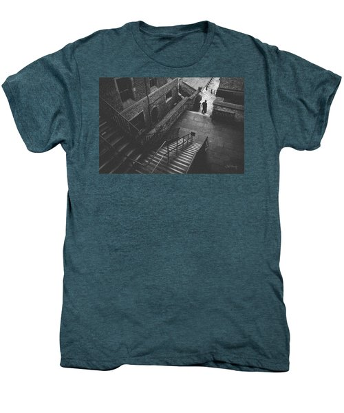 In Pursuit Of The Devil On The Stairs Men's Premium T-Shirt by Joseph Westrupp