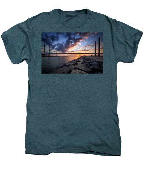 Indian River Inlet And Bay Sunset Men's Premium T-Shirt