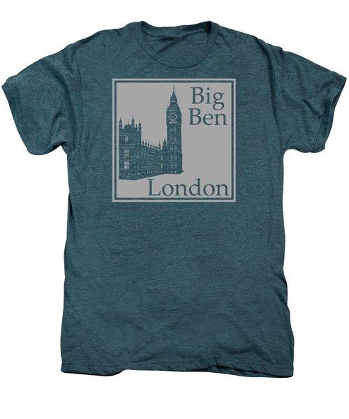 London's Big Ben In Gray Men's Premium T-Shirt