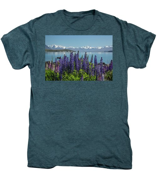 Lupines At Lake Tekapo Men's Premium T-Shirt