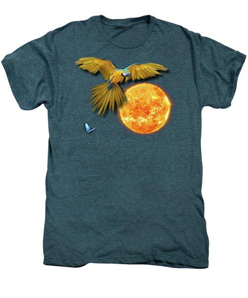 Macaw Sun Men's Premium T-Shirt by iMia dEsigN
