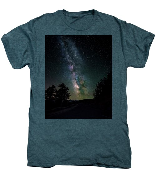 Milky Way Over Rocky Mountains Men's Premium T-Shirt