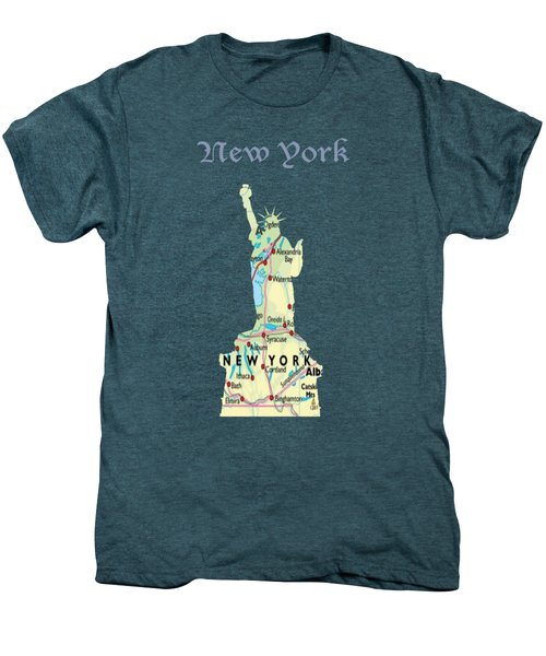 New York Men's Premium T-Shirt by Art Spectrum