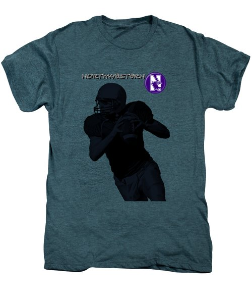 Northwestern Football Men's Premium T-Shirt by David Dehner