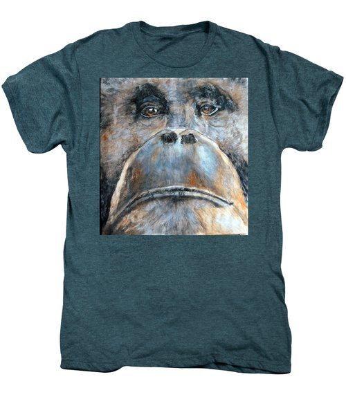 Orangutan Men's Premium T-Shirt by Maureen Murphy