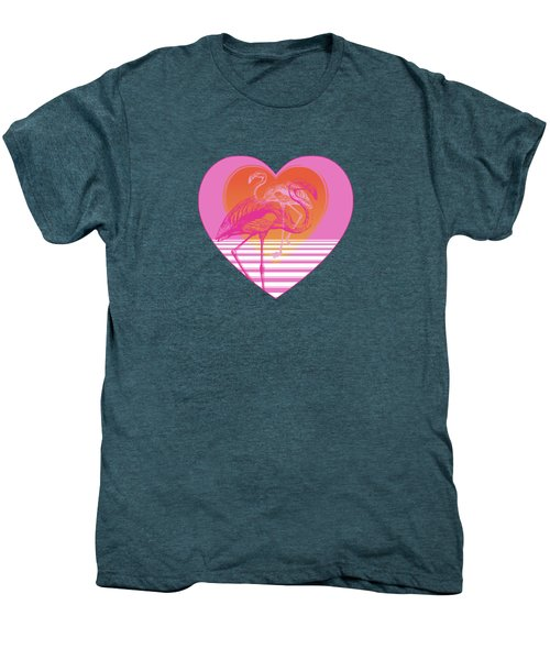Pink Flamingos Men's Premium T-Shirt by Eclectic at HeART