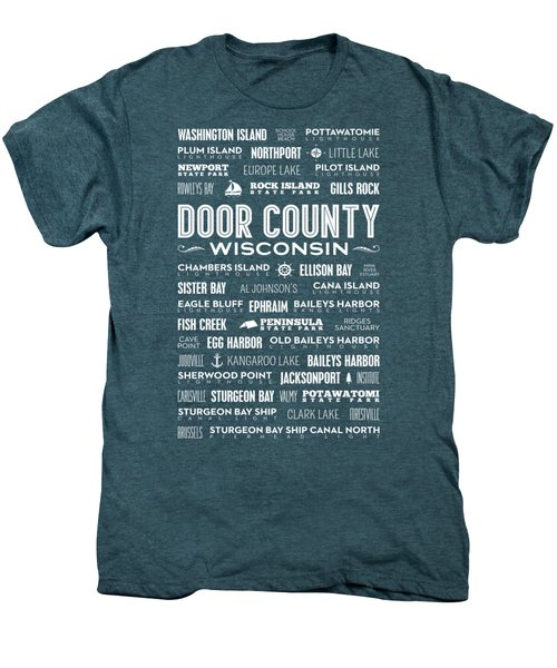 Places Of Door County On Gray Men's Premium T-Shirt