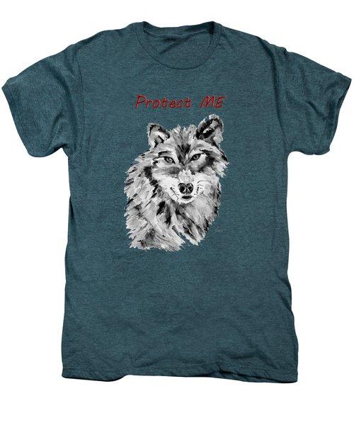 Protect Me - Wolf Art By Valentina Miletic Men's Premium T-Shirt