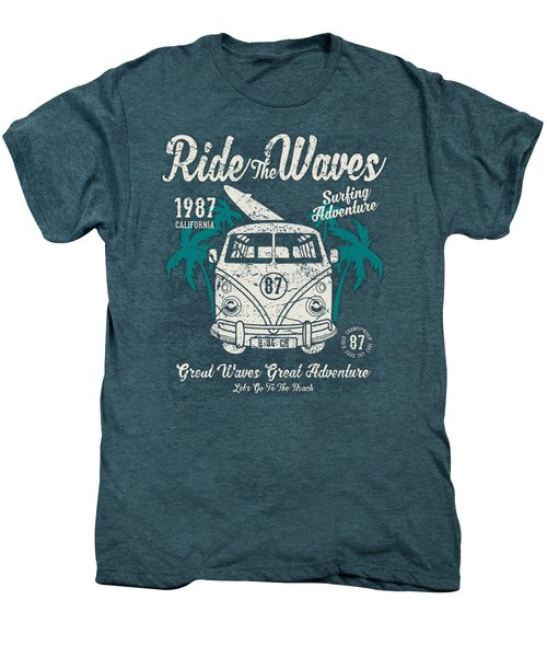 Ride The Waves Men's Premium T-Shirt