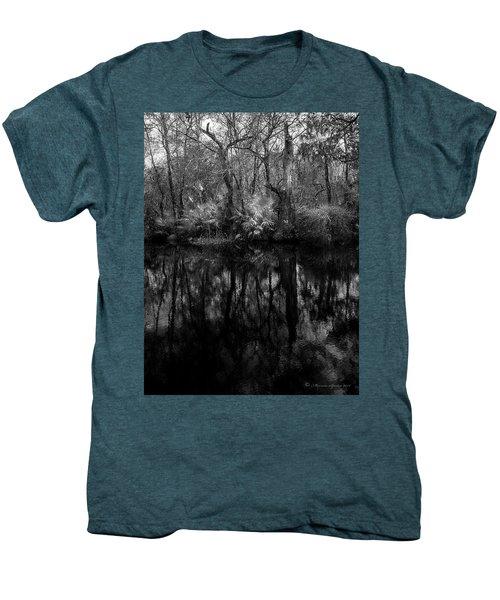 River Bank Palmetto Men's Premium T-Shirt by Marvin Spates