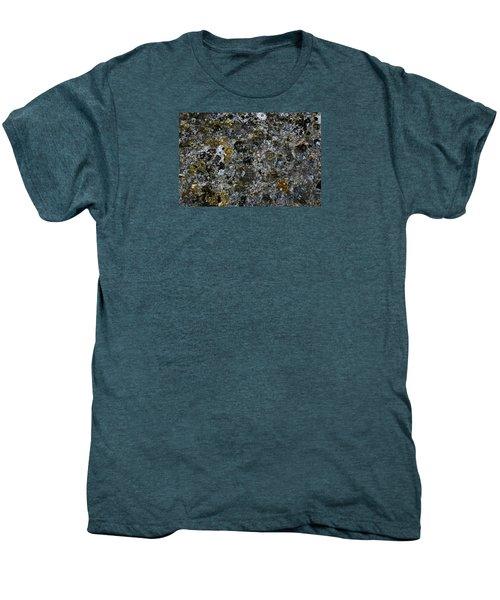 Rock Lichen Surface Men's Premium T-Shirt by Nareeta Martin