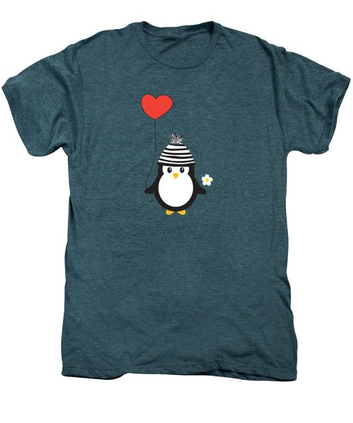 Romeo The Penguin Men's Premium T-Shirt by Natalie Kinnear