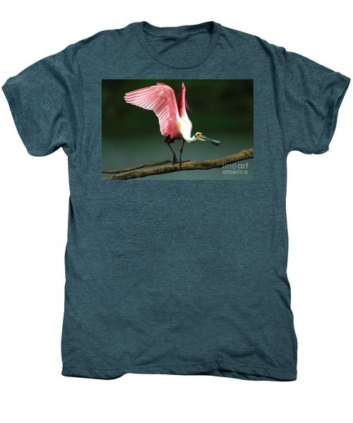 Rosiette Spoonbill Texas Men's Premium T-Shirt by Bob Christopher