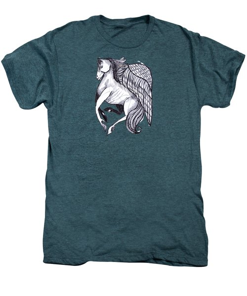 Save The Wild Mustangs Men's Premium T-Shirt by Joanna Whitney