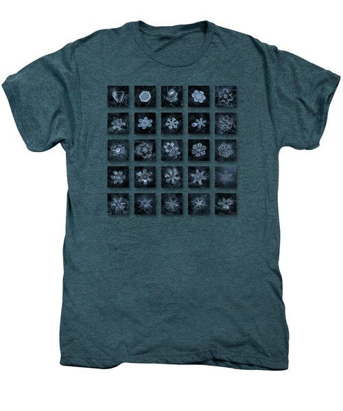 Snowflake Collage - Season 2013 Dark Crystals Men's Premium T-Shirt