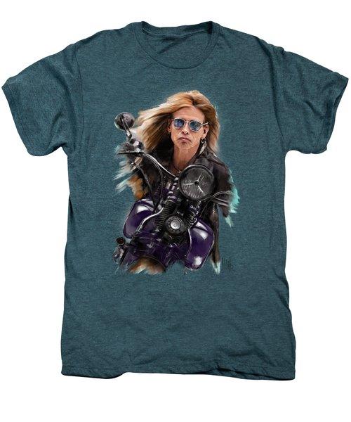 Steven Tyler On A Bike Men's Premium T-Shirt