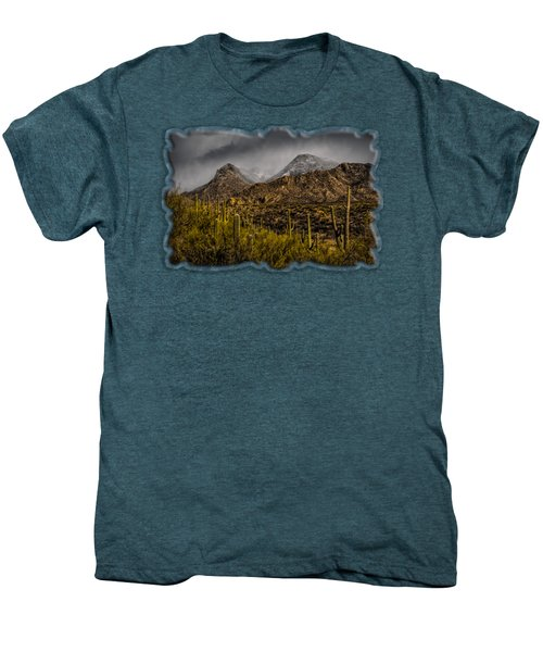 Storm Over Catalinas 15 Men's Premium T-Shirt by Mark Myhaver