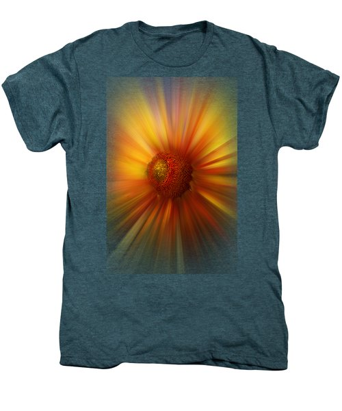 Sunflower Dawn Zoom Men's Premium T-Shirt by Debra and Dave Vanderlaan