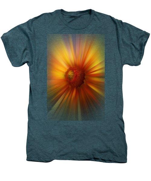 Sunflower Dawn Zoom Men's Premium T-Shirt by Debra and Dave Vanderlaan