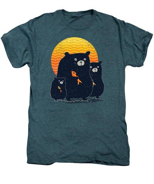 Sunset Bear Family Men's Premium T-Shirt by Illustratorial Pulse