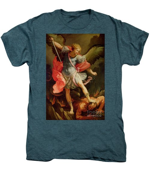The Archangel Michael Defeating Satan Men's Premium T-Shirt