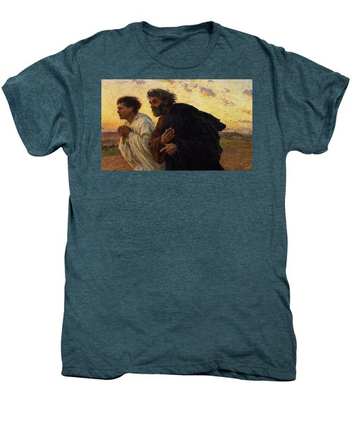 The Disciples Peter And John Running To The Sepulchre On The Morning Of The Resurrection Men's Premium T-Shirt