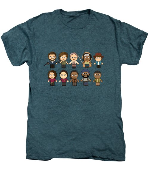 The Walking Dead - Main Characters Chibi - Amc Walking Dead - Manga Dead Men's Premium T-Shirt