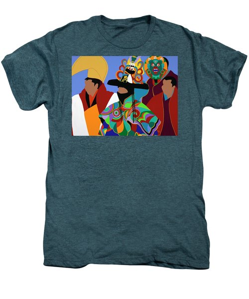 Tibetan Monks Cham Dancer Men's Premium T-Shirt