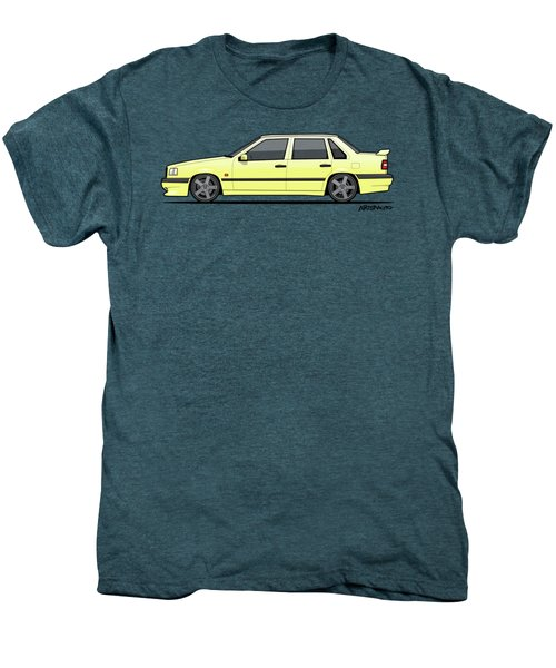 Volvo 850r 854r T5-r Creme Yellow Men's Premium T-Shirt by Monkey Crisis On Mars