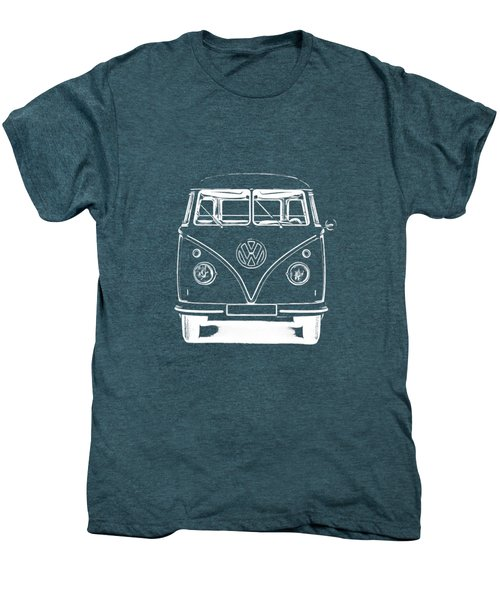 Vw Van Graphic Artwork Tee White Men's Premium T-Shirt by Edward Fielding