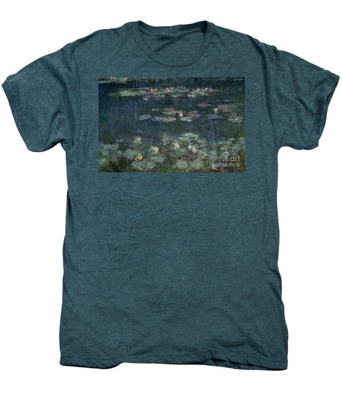 Waterlilies Green Reflections Men's Premium T-Shirt