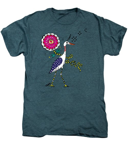 Weak Coffee Lovebird Men's Premium T-Shirt