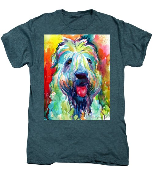 Wheaten Terrier Dog Portrait Men's Premium T-Shirt by Svetlana Novikova