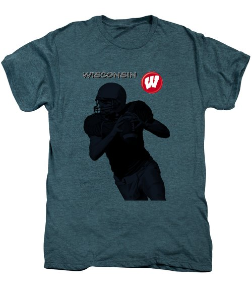 Wisconsin Football Men's Premium T-Shirt by David Dehner