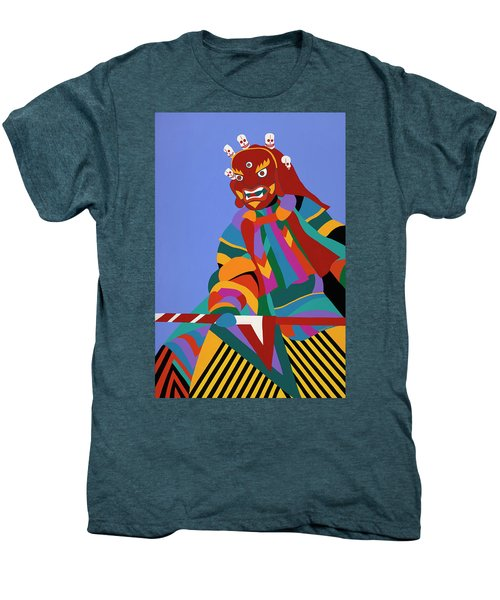 Cham Dancer Wrathful Deity Men's Premium T-Shirt