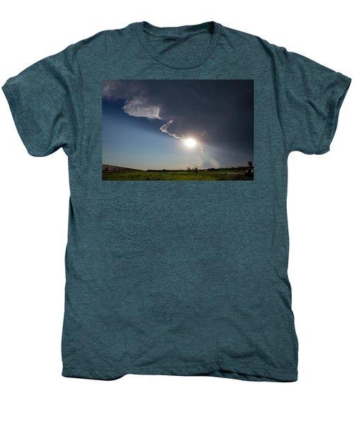 Dying Nebraska Thunderstorms At Sunset 002 Men's Premium T-Shirt