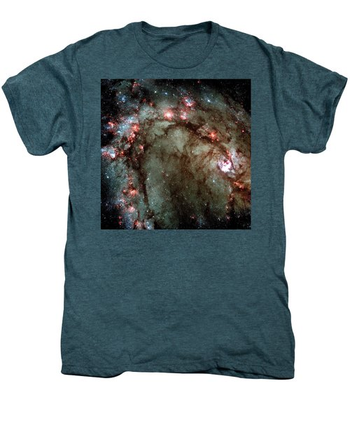 Men's Premium T-Shirt featuring the photograph Galaxy M83 Star Birth Outer Space Image by Bill Swartwout Fine Art Photography