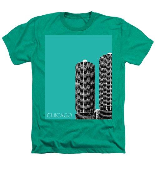 Chicago Skyline Marina Towers - Teal Heathers T-Shirt