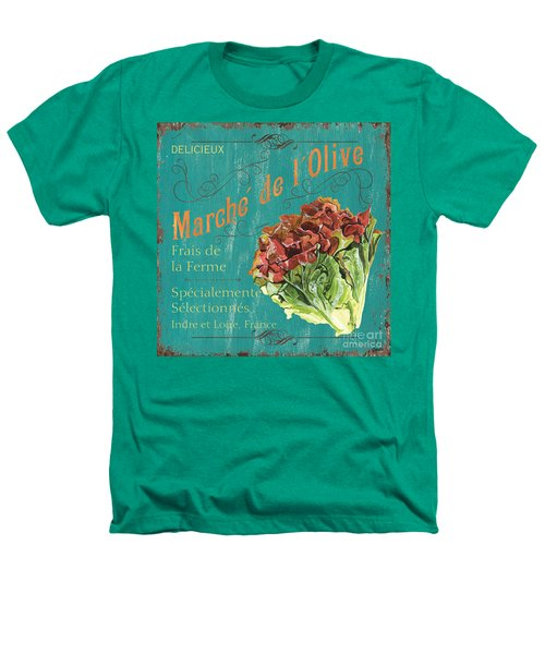 French Market Sign 3 Heathers T-Shirt by Debbie DeWitt