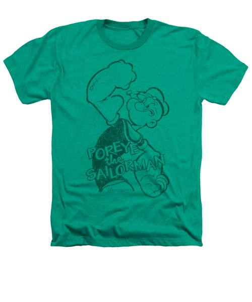 Popeye - Spinach Strong Heathers T-Shirt