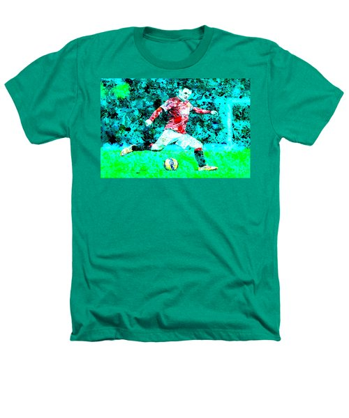 Wayne Rooney Splats Heathers T-Shirt by Brian Reaves