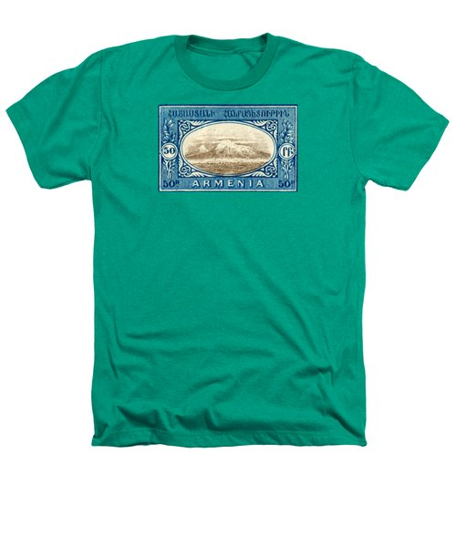1920 Armenian Mount Ararat Stamp Heathers T-Shirt by Historic Image