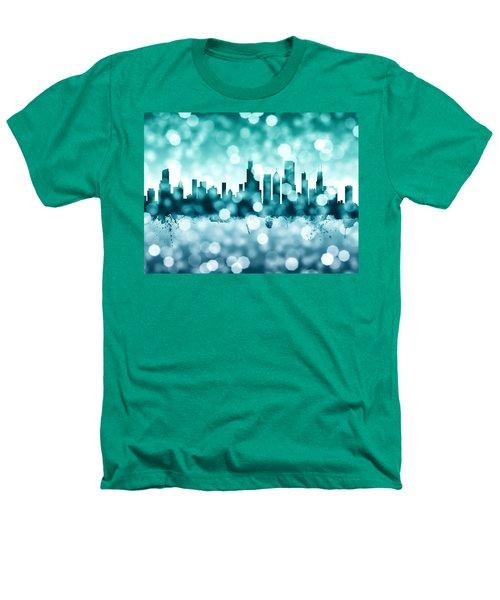 Chicago Illinois Skyline Heathers T-Shirt by Michael Tompsett