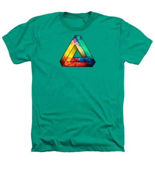 Abstract Color Wave Flash Heathers T-Shirt