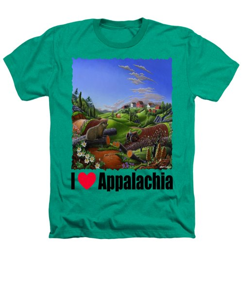 I Love Appalachia - Spring Groundhog Heathers T-Shirt by Walt Curlee