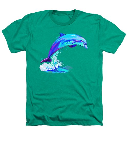 Dolphin In Colors Heathers T-Shirt by A