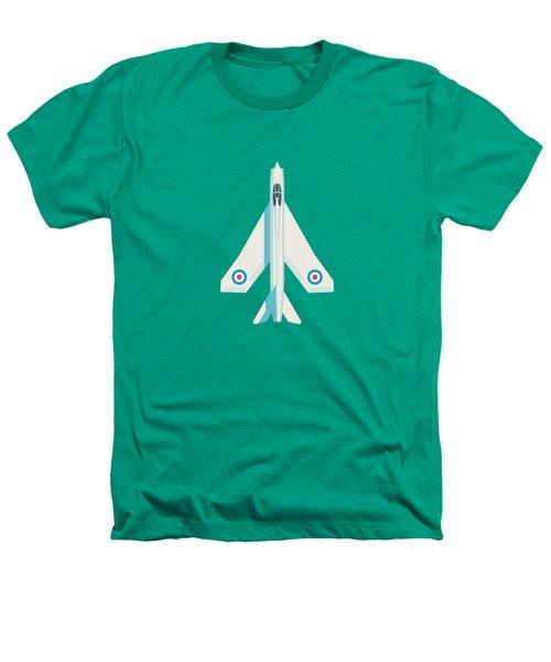 English Electric Lightning Fighter Jet Aircraft - Blue Heathers T-Shirt