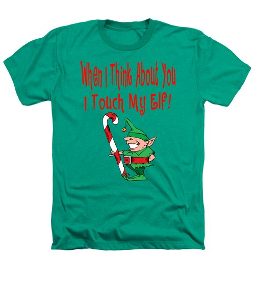 Naughty Christmas Elf Heathers T-Shirt by Susan Cooper