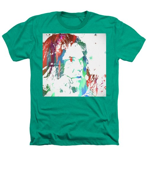 Neil Young Paint Splatter Heathers T-Shirt by Dan Sproul